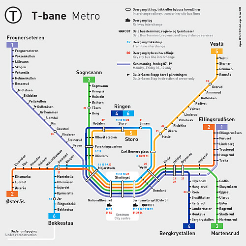 ruter kart t bane Modelljernbane » Oslos tunnelbane ruter kart t bane