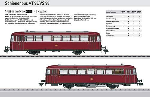 B55099 MAERKLIN | VT98 VS98 | Foto: Maerklin