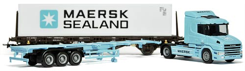 HERPA 148722 | MÆRSK SEA-LAND | SCANIA T 164-580 TREKKVOGN MED SEMIHENGER | Foto: 0rvik