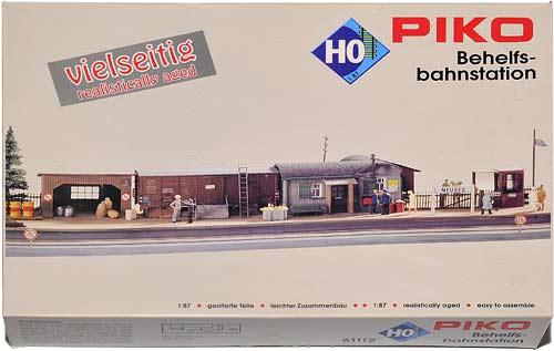 61112 PIKO | BEHELFS-BAHNSTATION | TEMPORARY STATION | PROVISORISK STASJONSOMRÅDE | Foto: 0rvik