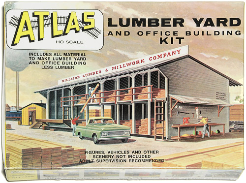 MODELLBYGGESETT | ATLAS 750 - LUMBER YARD AND OFFICE BUILDING HO