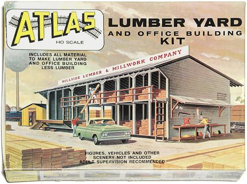 MODELLBYGGESETT | ATLAS 750 - LUMBER YARD AND OFFICE BUILDING HO