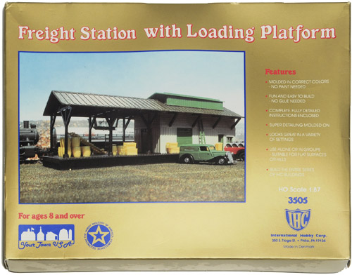 MODELLBYGGESETT | IHC 3505 - FREIGHT STATION WITH LOADING PLATFORM HO