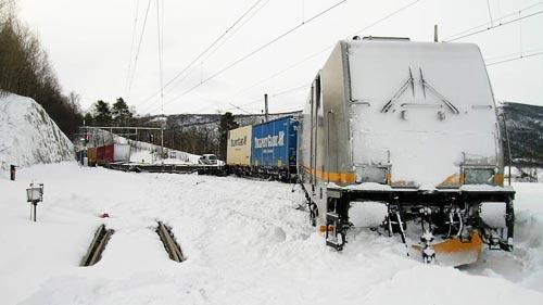 ZUGENTGLEISUNG | TRAIN DERAILED | TOGAVSPORING | DOVREBANEN | Foto: Jernbaneverket/Iversen