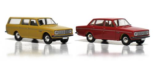Brekina 29450 Volvo 145 Stasjonsvogn og Brekina 29400 Volvo 144 Sedan